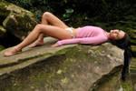 Tara - pink on rock 2