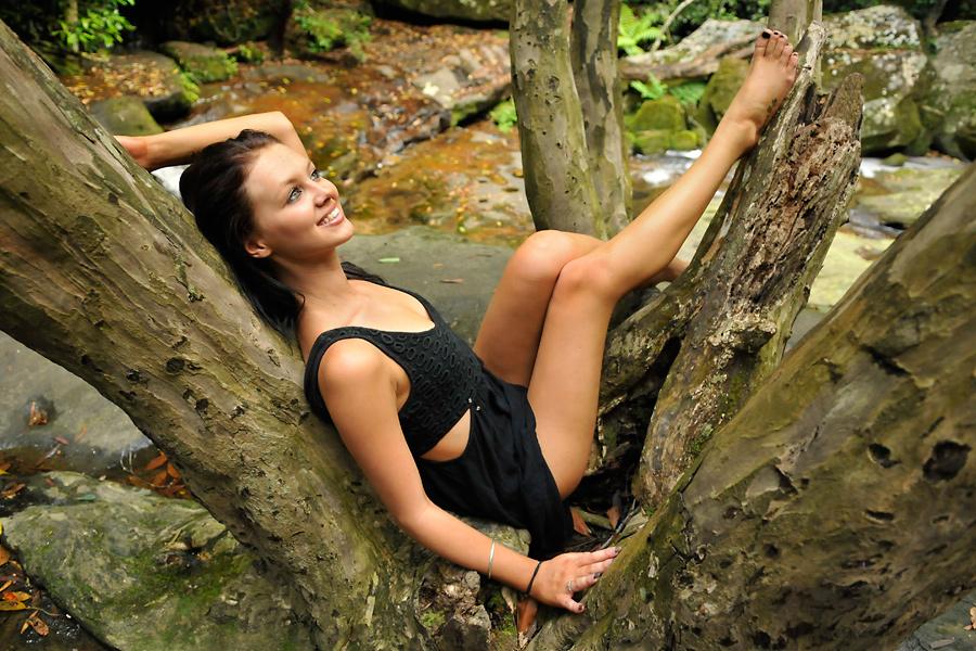 Tara - black dress 1 by wildplaces