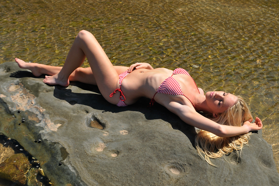 Kahli - red bikini supine 1 by wildplaces