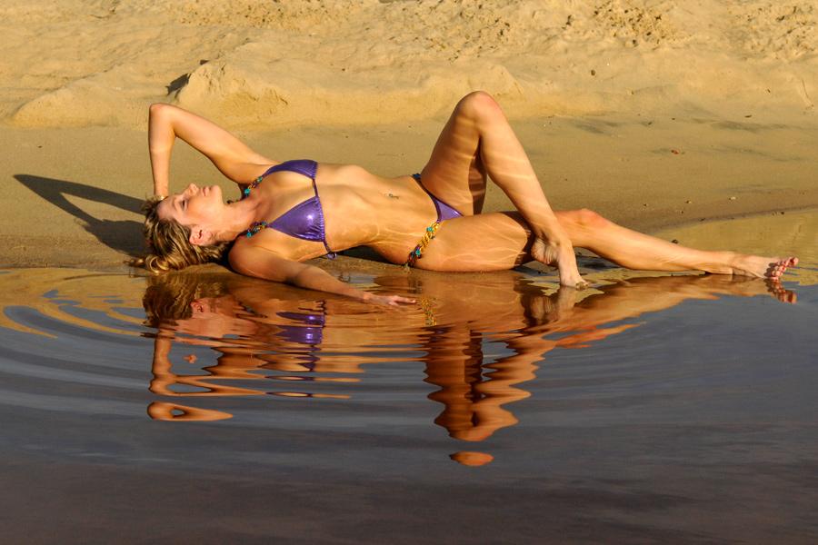 Zoe - purple bikini reflected 1 by wildplaces