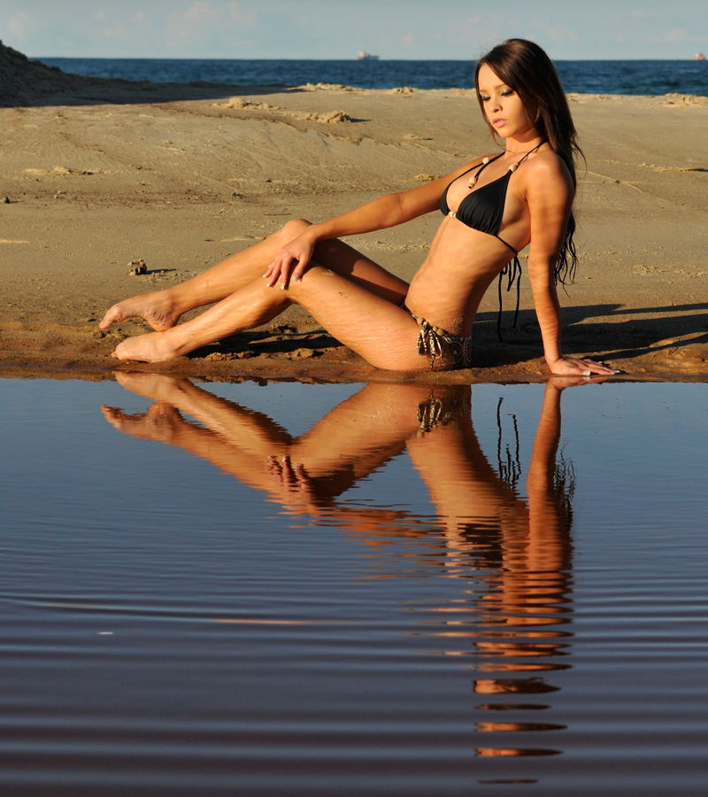 Annali - black bikini reflected 2 by wildplaces