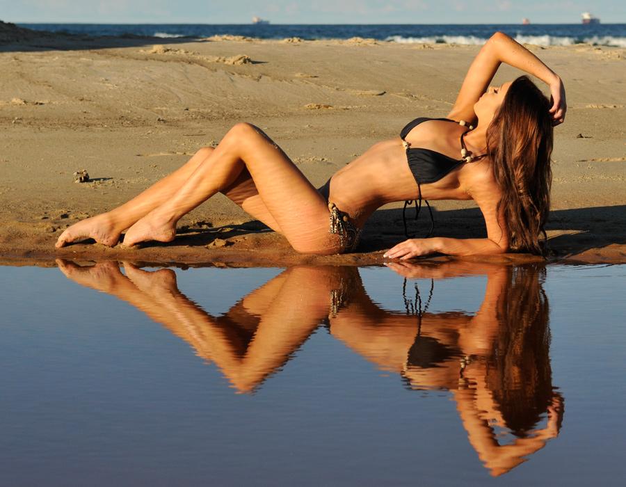Annali - black bikini reflected 3 by wildplaces