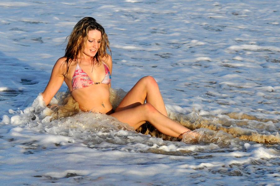 Zoe - bikini in backwash 1 by wildplaces