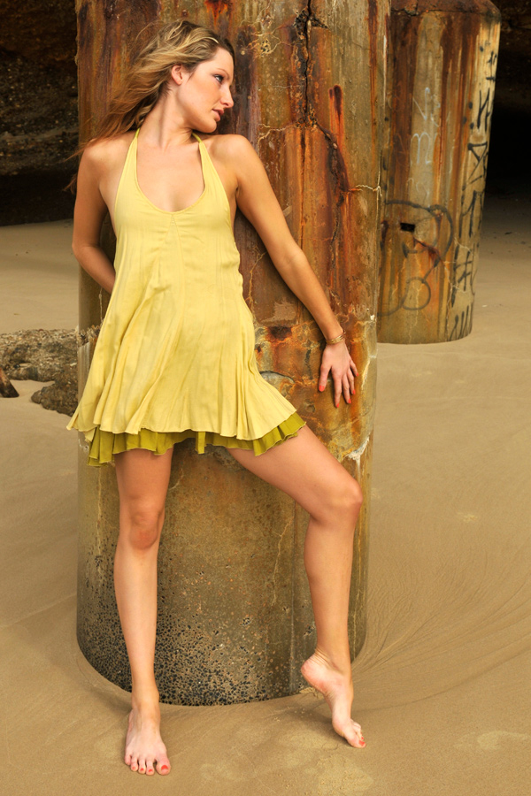 Zoe - lemon dress at pillar 4 by wildplaces