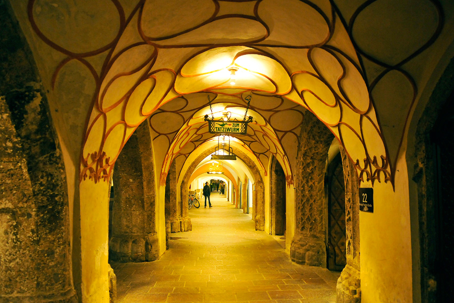 Innsbruck Old Town archways 1 by wildplaces