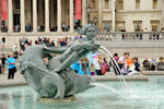 Trafalgar Square fountain detail 1