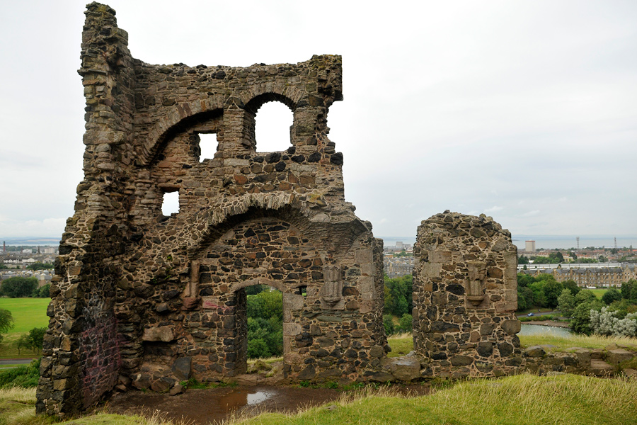 Ruins in Holyrood Park 1 by wildplaces