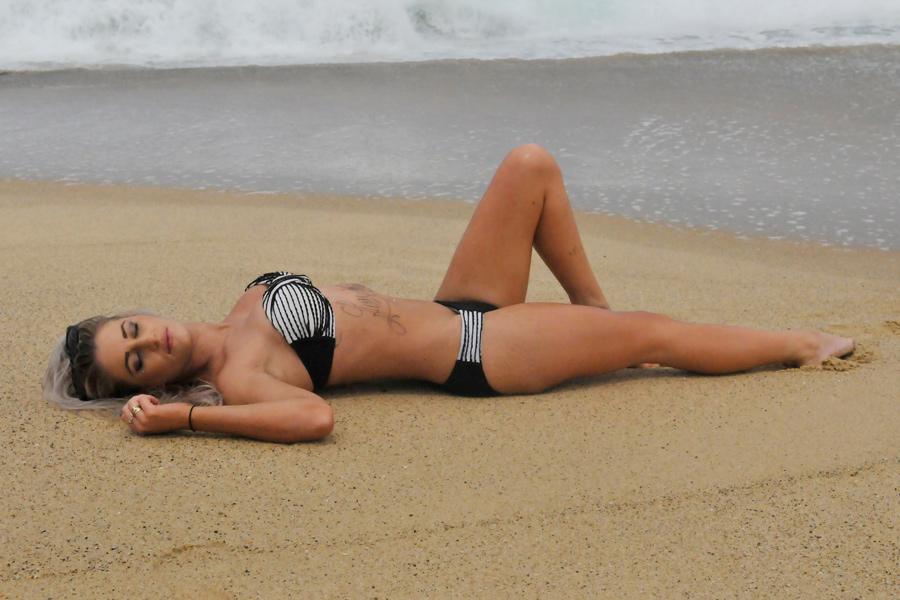 Justine - black and white bikini 3 by wildplaces