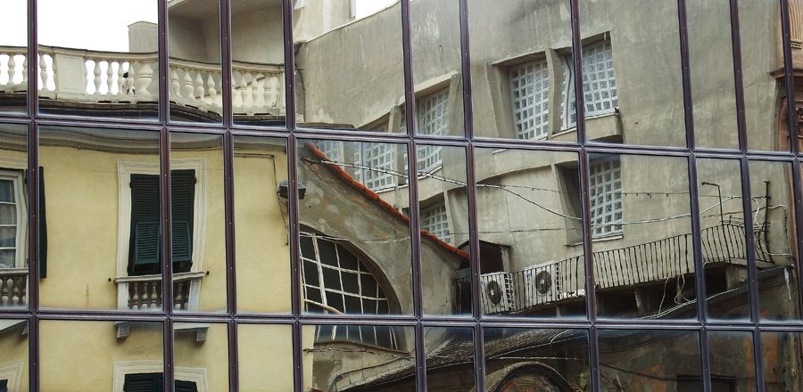 Reflected streetscape 1 - Genoa by wildplaces