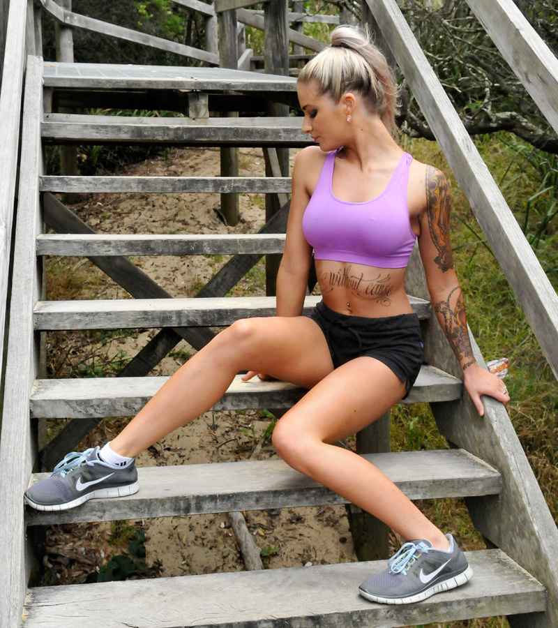 Justine - fitness purple 1 by wildplaces
