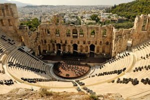 Athenian theatre 1 by wildplaces