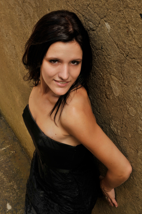 Cassie - black dress smile revisited 1 by wildplaces