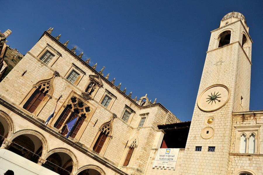 Dubrovnik clocktower 1 by wildplaces