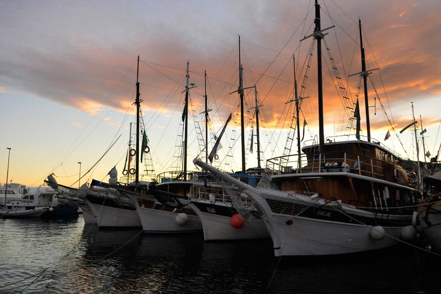 Sunset - Split harbour, Croatia by wildplaces
