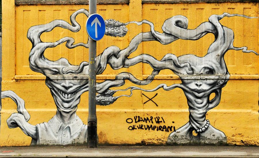 Street art 1 - Zagreb by wildplaces
