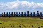 15 moai at Aku Tongakiri 1