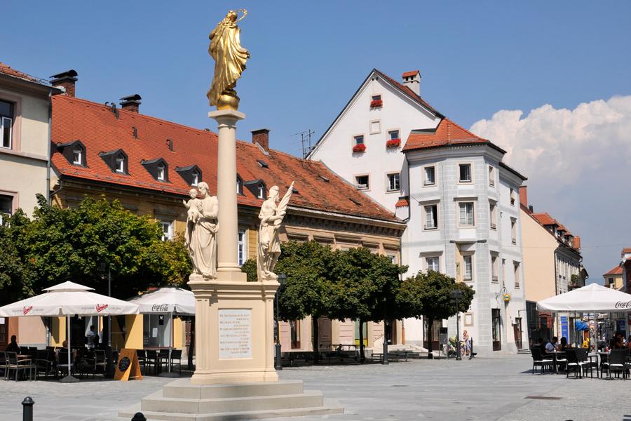 Streetscape, Celje, Slovenia by wildplaces