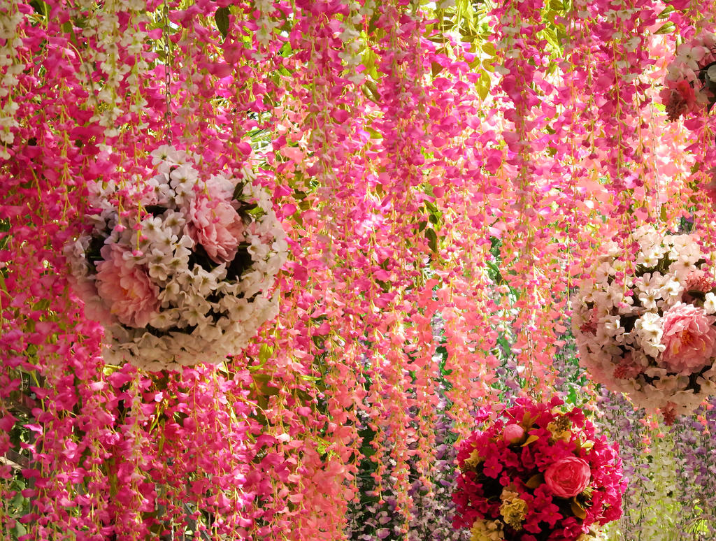 Flower curtain detail 1 - Moscow by wildplaces