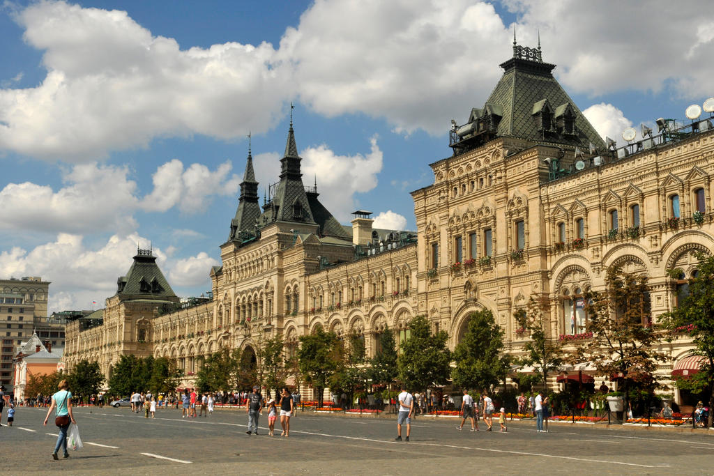 Gum facade - Red Square, Moscow by wildplaces