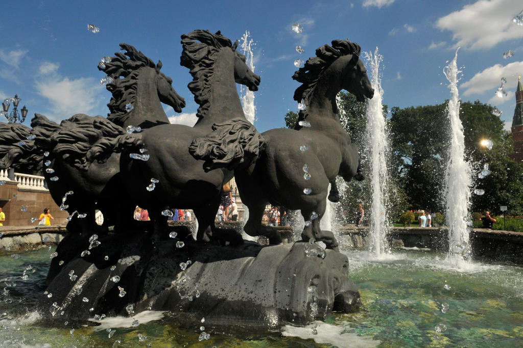 Four Horse Fountain 1 - Moscow by wildplaces