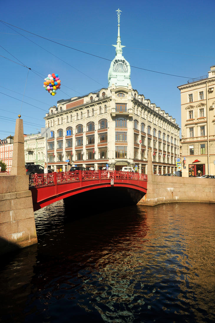 Red Bridge 1 - St Petersburg by wildplaces