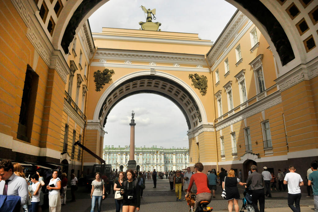 Palace Square arches 2016 - St Petersburg by wildplaces