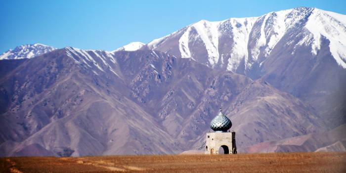 Kyrgyzstan mountain mosque 1