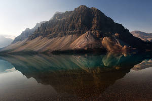 Crowfoot Mountain reflected 1 - Canada by wildplaces