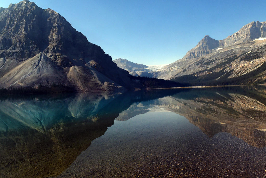 Crowfoot Mountain reflected 2 - Canada by wildplaces