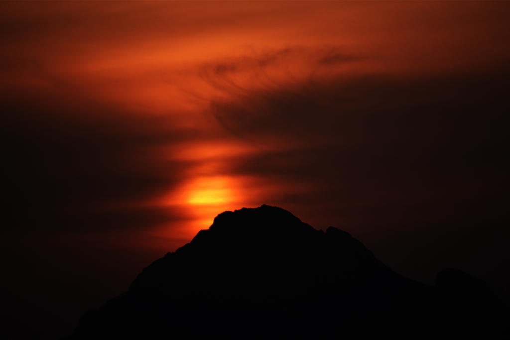 Sulayman Mountain sunset 2 - Kyrgyzstan by wildplaces