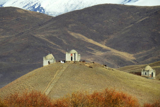 Hilltop tombs 1 - Kyrgyzstan