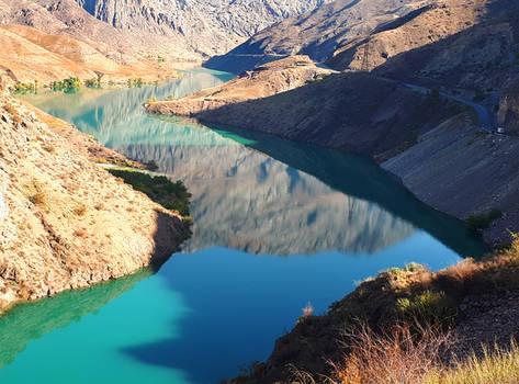 Arm of Reservoir 2 - Kyrgyzstan