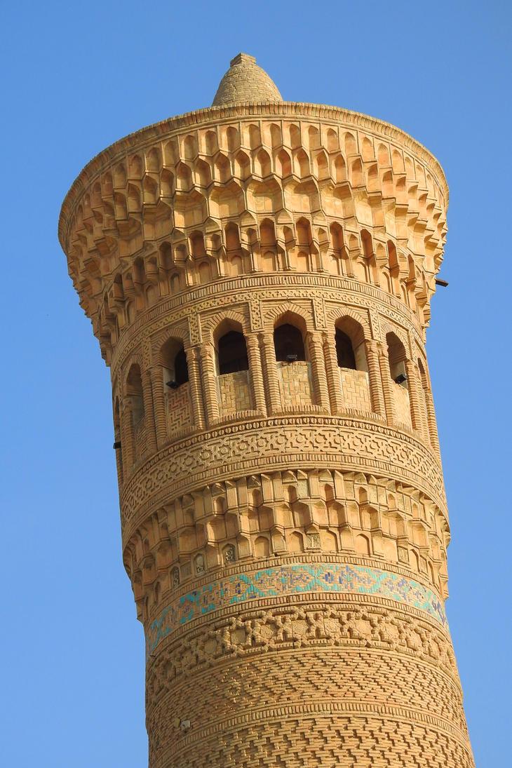 Vabkent Minaret 1 - Bukhara by wildplaces
