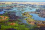 Flying over the Okavango 7
