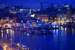 Bergen harbour by night 1 - Norway by wildplaces