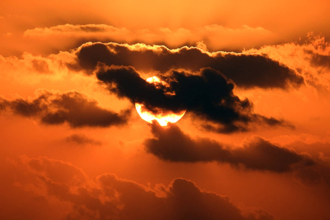 Sunset clouds - Mauritius