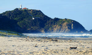 Byron Bay lighthouse and Tallow Beach, NSW