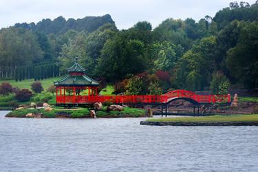 Japanese gazebo and bridge - Oberon