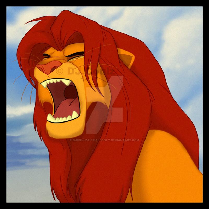 Simba Roar by DJCoulzAnimalsOnly on DeviantArt