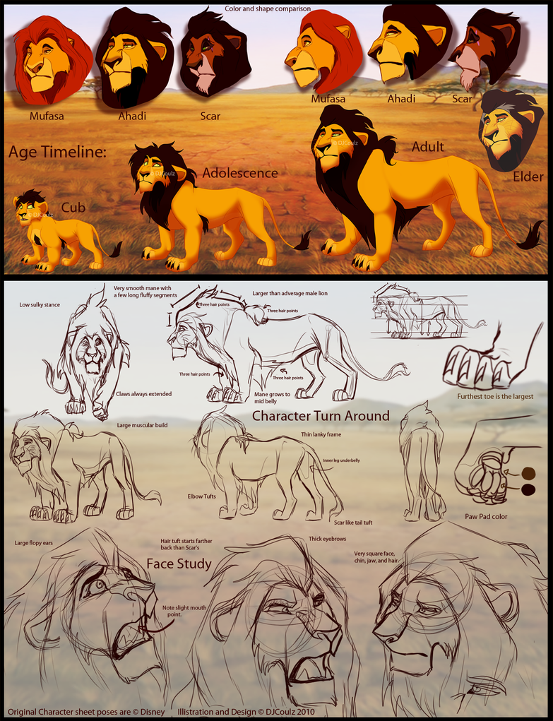 P.O The Lion King Ahadi_Character_Design_Sheet_by_DJCoulzAnimalsOnly