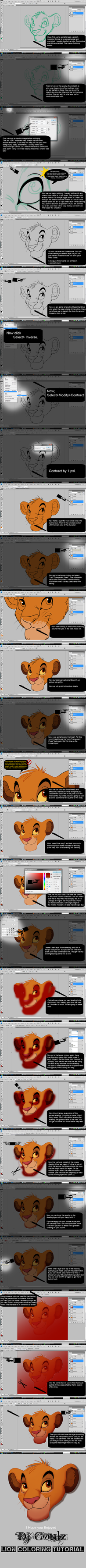 Basic Coloring Tutorial -New- by DJCoulzAnimalsOnly