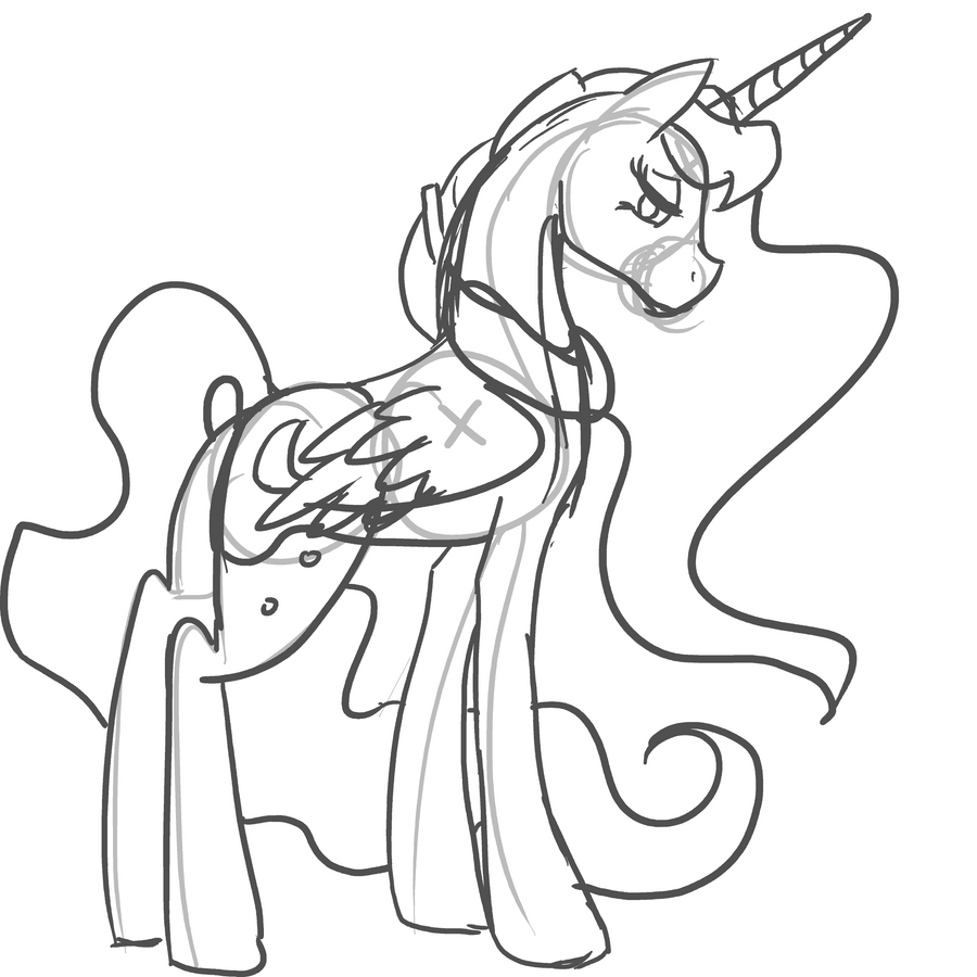 Sketch 18 princess luna by choochootrannysaurus on deviantart for Princess luna coloring pages