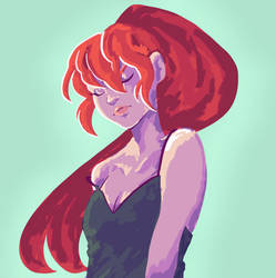 The Red Headed Girl by arteella