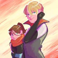Kara and Alice by arteella