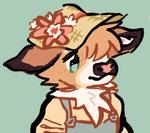miel in cute hat