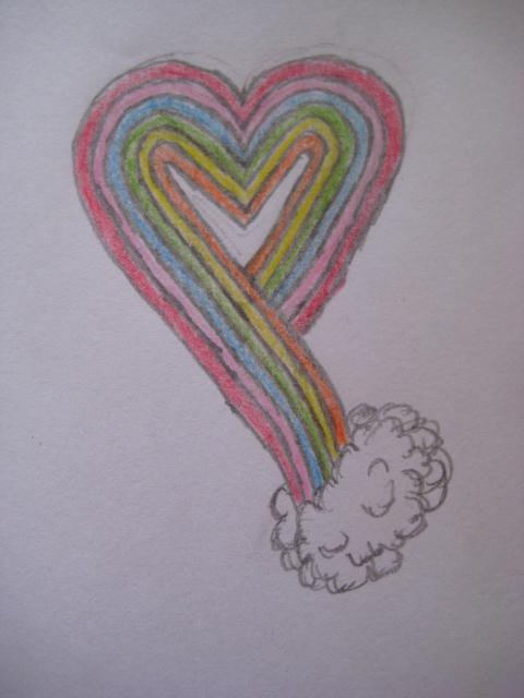 Rainbow Heart by StephenKingsVampire
