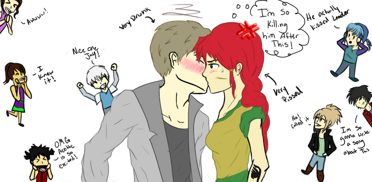 Maxi and Jay-drunk kiss by 6stringRaven