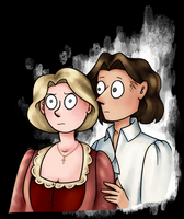 Hannah and Archer by pinearts
