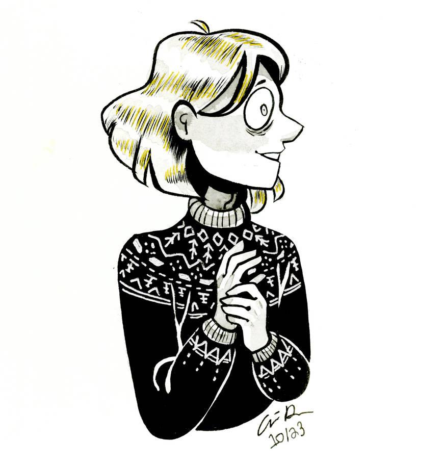 Inktober #17 (Sweater Corin #2) by pinearts