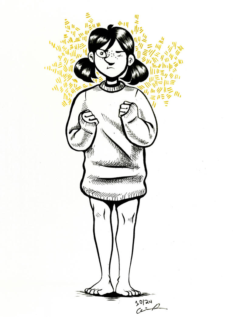 Pigtails (Inktober #19) by pinearts